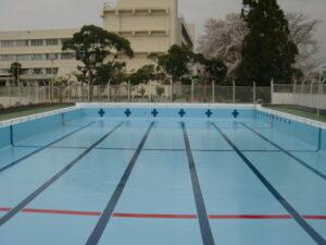 吹上小学校プール改修工事 施工完了