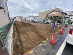 戸ヶ崎一丁目駐車場造成工事