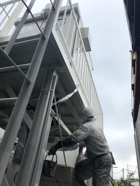 キュービクル架台塗装工事
