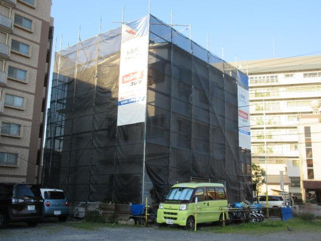 足立区東和 3階建軒樋交換工事