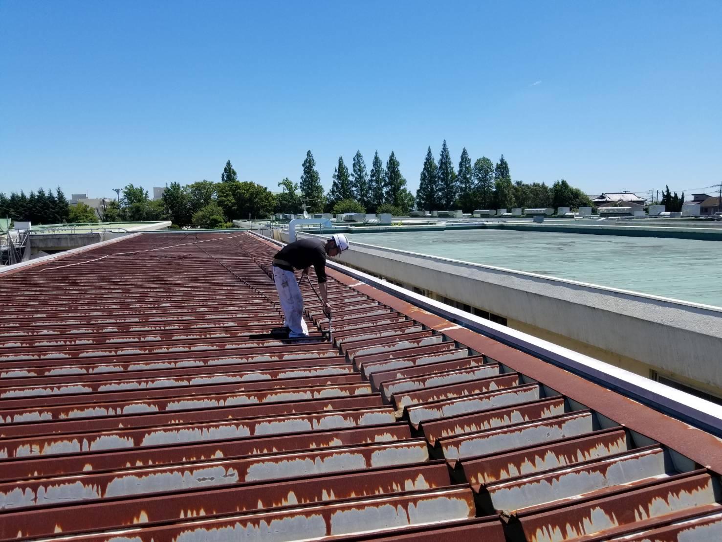 越谷特別支援学校バスプラットホーム屋根改修工事
